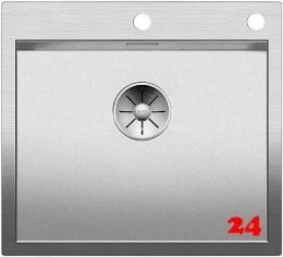BLANCO Küchenspüle Zerox 500-IF/A Durinox® Edelstahlspüle Flachrand mit Ablaufsystem InFino und PushControl