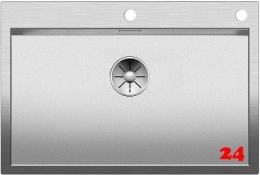 BLANCO Küchenspüle Zerox 700-IF/A Durinox® Edelstahlspüle Flachrand mit Ablaufsystem InFino und PushControl