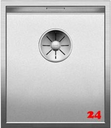 BLANCO Küchenspüle Zerox 340-IF Durinox® Edelstahlspüle Flachrand mit Ablaufsystem InFino und Handbetätigung