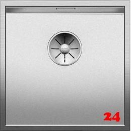 BLANCO Küchenspüle Zerox 400-IF Durinox® Edelstahlspüle Flachrand mit Ablaufsystem InFino und Handbetätigung