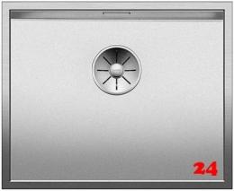 BLANCO Küchenspüle Zerox 500-IF Durinox® Edelstahlspüle Flachrand mit Ablaufsystem InFino und Handbetätigung