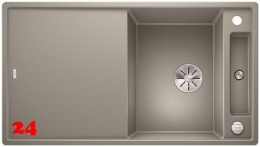 BLANCO Axia III 5 S GSB Silgranit® PuraDur®II Granitspüle / Einbauspüle Ablaufsystem InFino mit Drehknopfventil