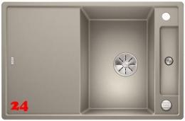 BLANCO Axia III 45 S HSB Silgranit® PuraDur®II Granitspüle / Einbauspüle Ablaufsystem InFino mit Drehknopfventil