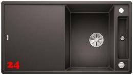 BLANCO Axia III 5 S-F GSB Silgranit® PuraDur®II Granitspüle Flächenbündig Ablaufsystem InFino mit Drehknopfventil