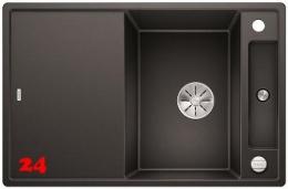 BLANCO Axia III 4 S-F GSB Silgranit® PuraDur®II Granitspüle Flächenbündig Ablaufsystem InFino mit Drehknopfventil