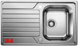 BLANCO Küchenspüle Dinas 45-S Edelstahlspüle / Einbauspüle mit Siebkorb als Drehknopfventil