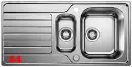 BLANCO Küchenspüle Dinas 6-S Einbauspüle / Edelstahlspüle Siebkorb als Drehknopfventil
