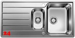 BLANCO Küchenspüle Lemis 6 S-IF Einbauspüle / Edelstahlspüle Flachrand Siebkorb als Drehknopfventil