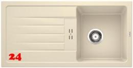 BLANCO Küchenspüle Favum 45 S Silgranit® PuraDur®II Granitspüle / Einbauspüle mit Handbetätigung in 6 Farben