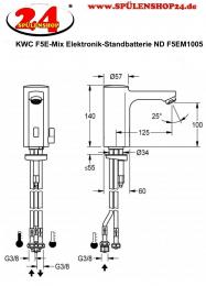 FRANKE F5E-Mix Elektronik Standbatterie F5EM1005-ND DN 15 für Waschanlagen, opto-elektronisch gesteuert