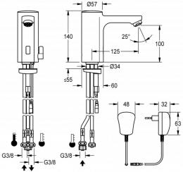 FRANKE F5E-Mix Elektronik Standbatterie F5EM1006-ND DN 15 für Waschanlagen, opto-elektronisch gesteuert