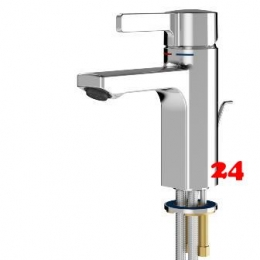 FRANKE F5L Einhebel-Standbatterie F5LM1003 DN 15 für Waschanlagen mit Zugstange