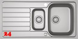 FRANKE Küchenspüle Spark SKX 251 Einbauspüle Slimtop / Flächenbündig mit Drehknopfventil