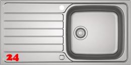 FRANKE Küchenspüle Spark SKX 611-100 Einbauspüle mit Drehknopfventil