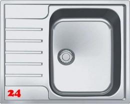 FRANKE Küchenspüle Argos AGX 211-62 Einbauspüle Slimtop / Flächenbündig mit Druckknopfventil
