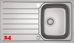 FRANKE Küchenspüle Spark SKX 611 Einbauspüle Siebkorb als Drehknopfventil