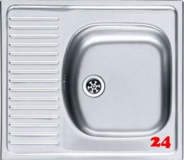 FRANKE Küchenspüle Eurostar ETN 611-58 Einbauspüle mit Gummistopfen