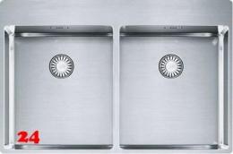 FRANKE Küchenspüle Box BXX 220-36-36 A Einbauspüle Slimtop / Flächenbündig mit Drehknopfventil