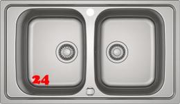 FRANKE Küchenspüle Spark SKX 620-86 Einbauspüle / Doppelspüle mit Drehknopfventil