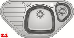 FRANKE Küchenspüle Spark SKX 651-E Einbauspüle / Eckspüle Siebkorb als Drehknopfventil