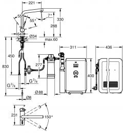 GROHE Blue Minta Professional Starter Kit (31347DC2)