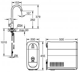 GROHE Blue Home Mono Starter Kit (31498DC0)