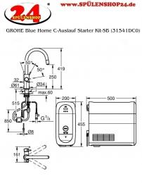 GROHE Blue Home C-Auslauf Starter Kit-SB (31541DC0)