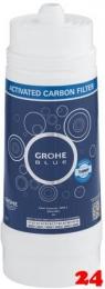 GROHE Blue Aktivkohlefilter 3-Phasen Filter Kapazität 3000 Liter unter 9° dKH (40547001)