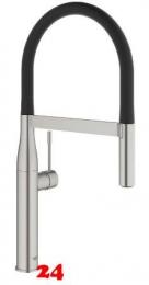 GROHE Küchenarmatur Essence Einhebelmischer Supersteel mit Pendelbrause und Brausefunktion (30294DC0)