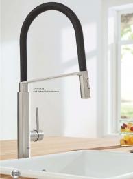 {Lager} GROHE Küchenarmatur Concetto Einhebelmischer Chrom mit Pendelbrause und Brausefunktion (31491000)