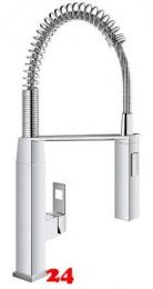 GROHE Küchenarmatur Eurocube Profi Einhebelmischer Chrom mit Pendelbrause und Brausefunktion (31395000)