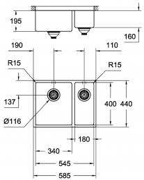GROHE Spülbecken K700U 60-S 58,5/44-UB (31576SD0)
