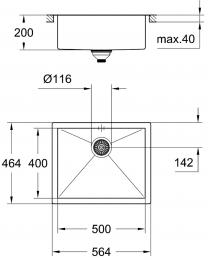GROHE Spülbecken K700 60-S 56,4/46,4-FL (31579SD0)