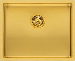 REGINOX MIAMI 50x40 Gold Beschichtung Einbauspüle Edelstahl 3 in 1 mit Flachrand PVD Technik