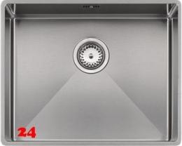 REGINOX Florida 50x40-FL Edelstahl 3 in 1 mit Flachrand Siebkorb als Stopfenventil