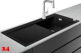 HANSGROHE C51 C51-F450-03 Granit Spülencombi (43214000) 450 Select mit Abtropffläche