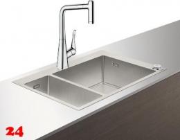 HANSGROHE C71 C71-F655-04 Spülencombi Chrom (43210000) 180/450 Select