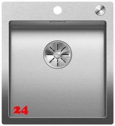 BLANCO Küchenspüle Claron 400-IF/A Durinox® Edelstahlspüle Flachrand mit Ablaufsystem InFino und PushControl