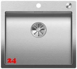 BLANCO Küchenspüle Claron 500-IF/A Durinox® Edelstahlspüle Flachrand mit Ablaufsystem InFino und PushControl