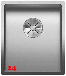 BLANCO Küchenspüle Claron 340-IF Durinox® Edelstahlspüle Flachrand mit Ablaufsystem InFino und Handbetätigung