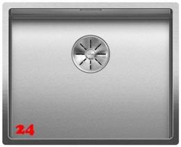 BLANCO Küchenspüle Claron 500-IF Durinox® Edelstahlspüle Flachrand mit Ablaufsystem InFino und Handbetätigung