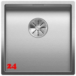 BLANCO Küchenspüle Claron 400-U Durinox® Edelstahlspüle / Unterbauspüle mit Ablaufsystem InFino und Handbetätigung