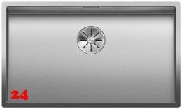 BLANCO Küchenspüle Claron 700-U Durinox® Edelstahlspüle / Unterbauspüle mit Ablaufsystem InFino und Handbetätigung
