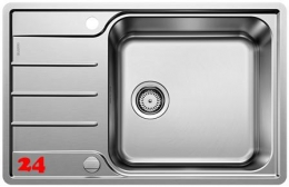 BLANCO Küchenspüle Lemis XL 6 S-IF Compact Einbauspüle / Edelstahlspüle Flachrand Siebkorb als Drehknopfventil