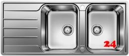 BLANCO Küchenspüle Lemis 8 S-IF Edelstahlspüle / Einbauspüle Flachrand mit Siebkorb als Drehknopfventil