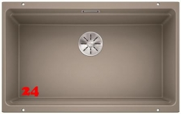 BLANCO Küchenspüle Etagon 700-U Silgranit® PuraDur®II Granitspüle / Unterbaubecken Ablaufsystem InFino mit Handbetätigung