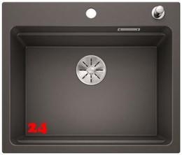 BLANCO Küchenspüle Etagon 6 Silgranit® PuraDur®II Granitspüle / Einbauspüle Ablaufsystem InFino mit Zugknopfventil