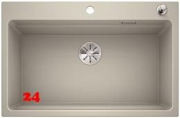 BLANCO Küchenspüle Etagon 8 Silgranit® PuraDur®II Granitspüle / Einbauspüle Ablaufsystem InFino mit Zugknopfventil