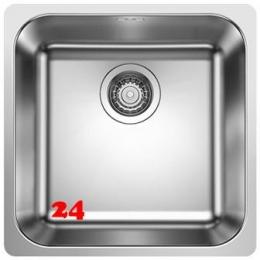 BLANCO Küchenspüle Supra 400-IF Edelstahlspüle / Einbauspüle Flachrand Siebkorb als Stopfenventil Handbetätigung