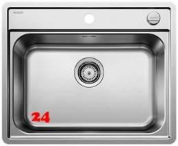 BLANCO Küchenspüle Lemis 6-IF Edelstahlspüle / Einbauspüle Flachrand und Hahnlochbank mit Drehknopfventil